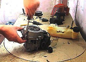 Ремонт  двигателя мотокосы